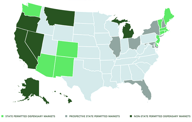 current cannabis states