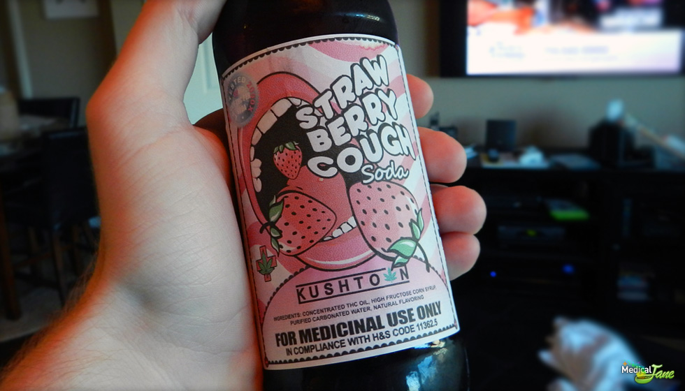 Strawberry Cough Soda from Kushtown