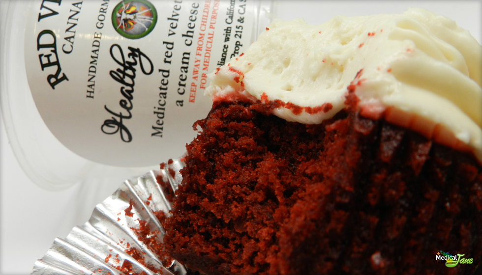 Red Velvet Cannacake from Healthy Highness