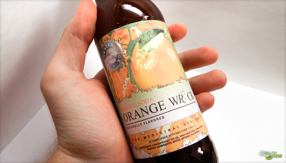 Orange Wreck Medicated Soda from Kushtown