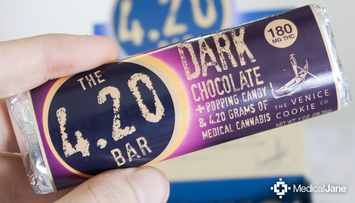 4.20 Bar: Dark Chocolate + Popping Candy from Venice Cookie Co.