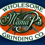 Logo for Mama P's Wholesome Grinding Co.