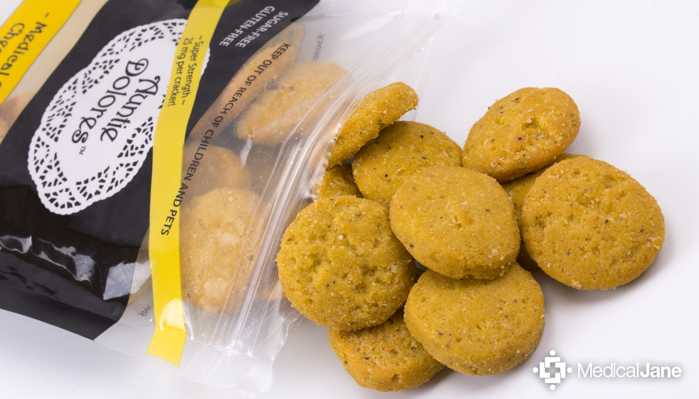 Medical Cannabis Cheese Crackers from Auntie Dolores