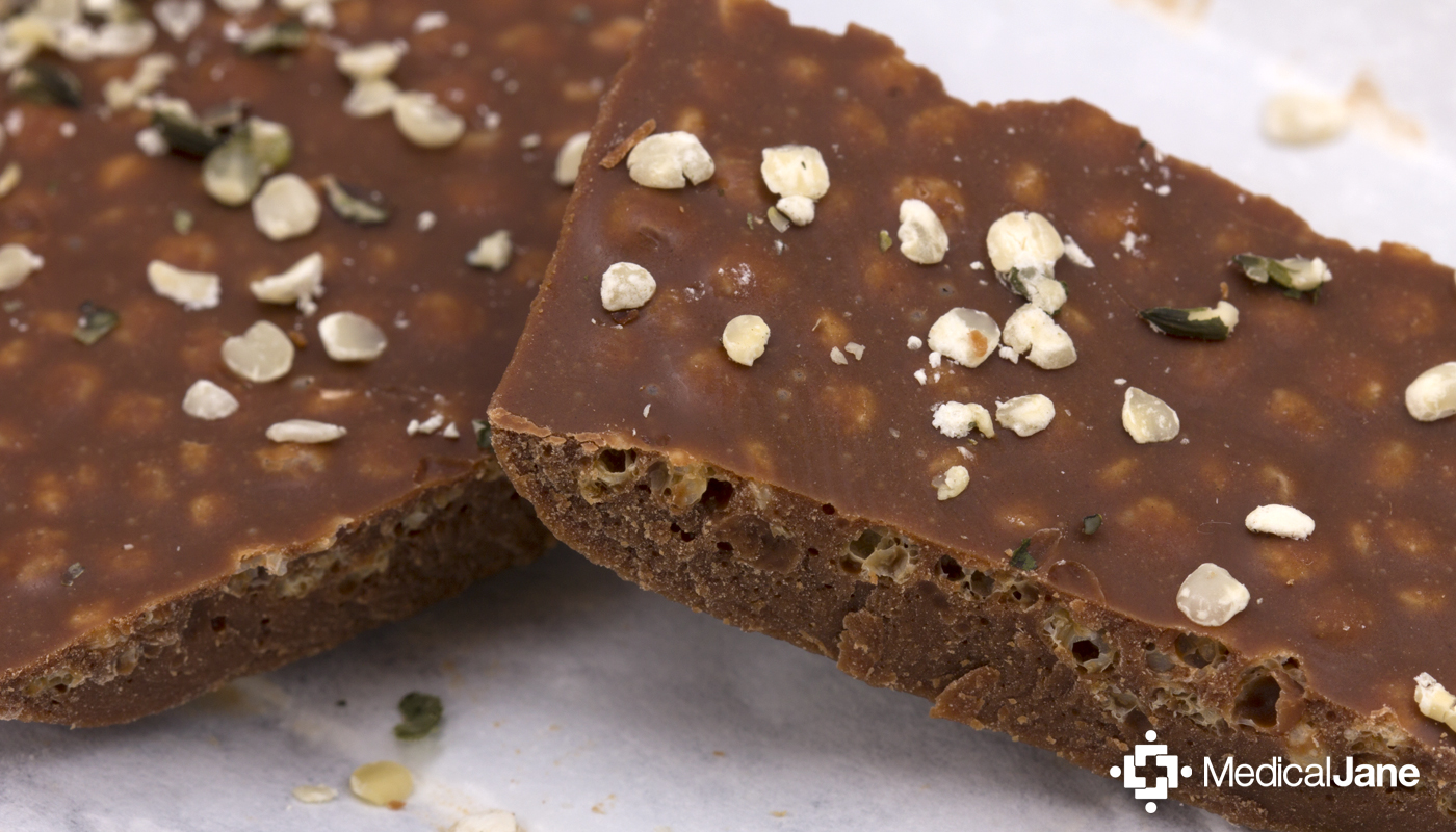 Milk Chocolate + Hemp Crunch 4.20 Bar from The Venice Cookie Co.