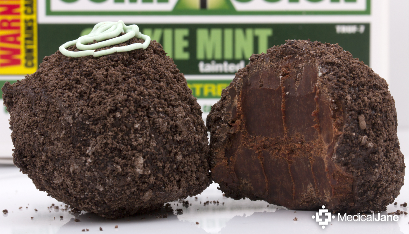 Cookie Mint Tainted Truffles from Compassion Edibles