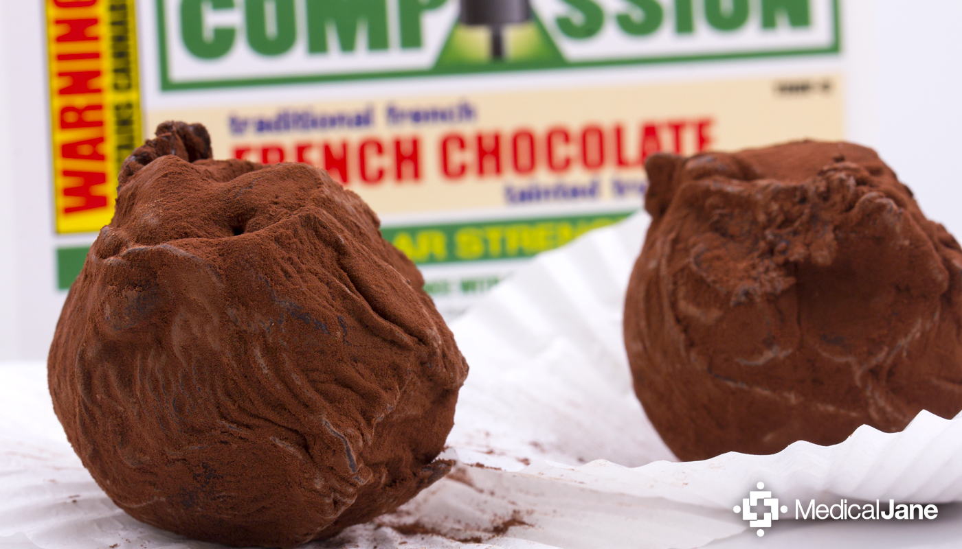 French Chocolate Tainted Truffle from Compassion Edibles
