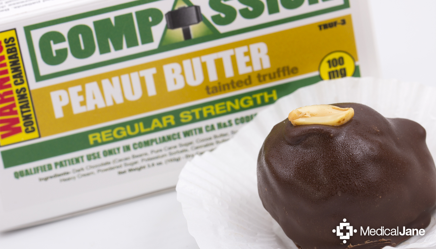 Peanut Butter Tainted Truffles from Compassion Edibles
