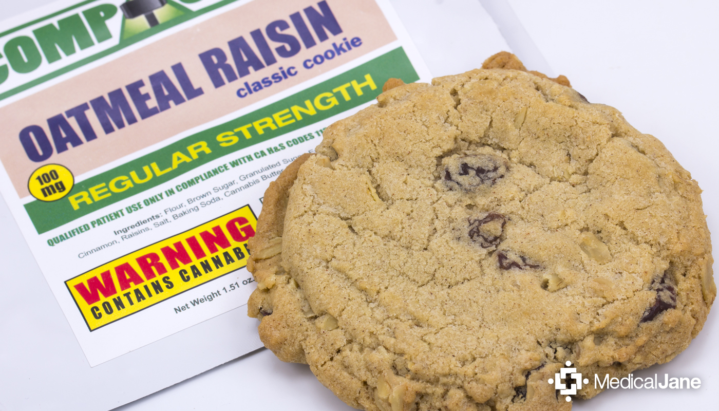 Oatmeal Raisin Classic Cookie from Compassion Edibles