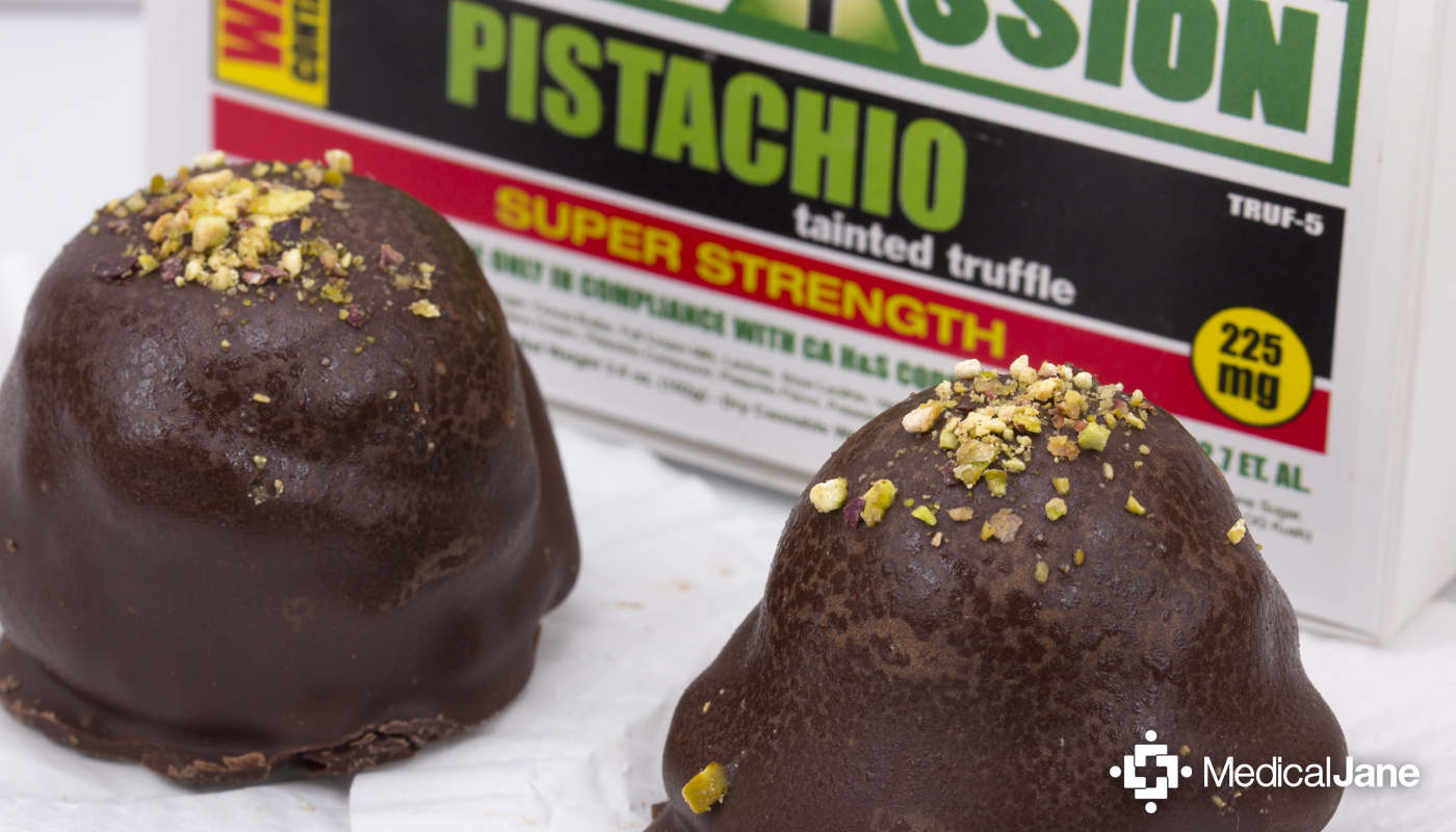 Pistachio Tainted Truffles - Super Strength from Compassion Edibles