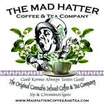 Logo for Mad Hatter Coffee and Tea co