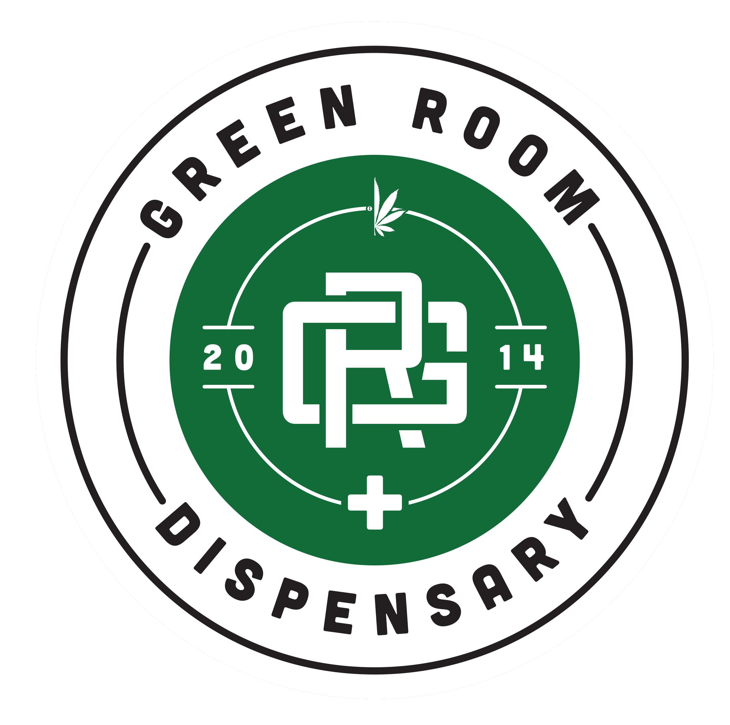 Logo for The Green Room Headquarters